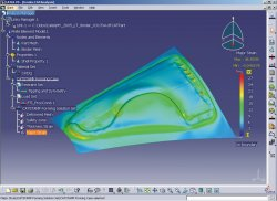 Forming simulation using CATSTAMP integrated in CATIA V5