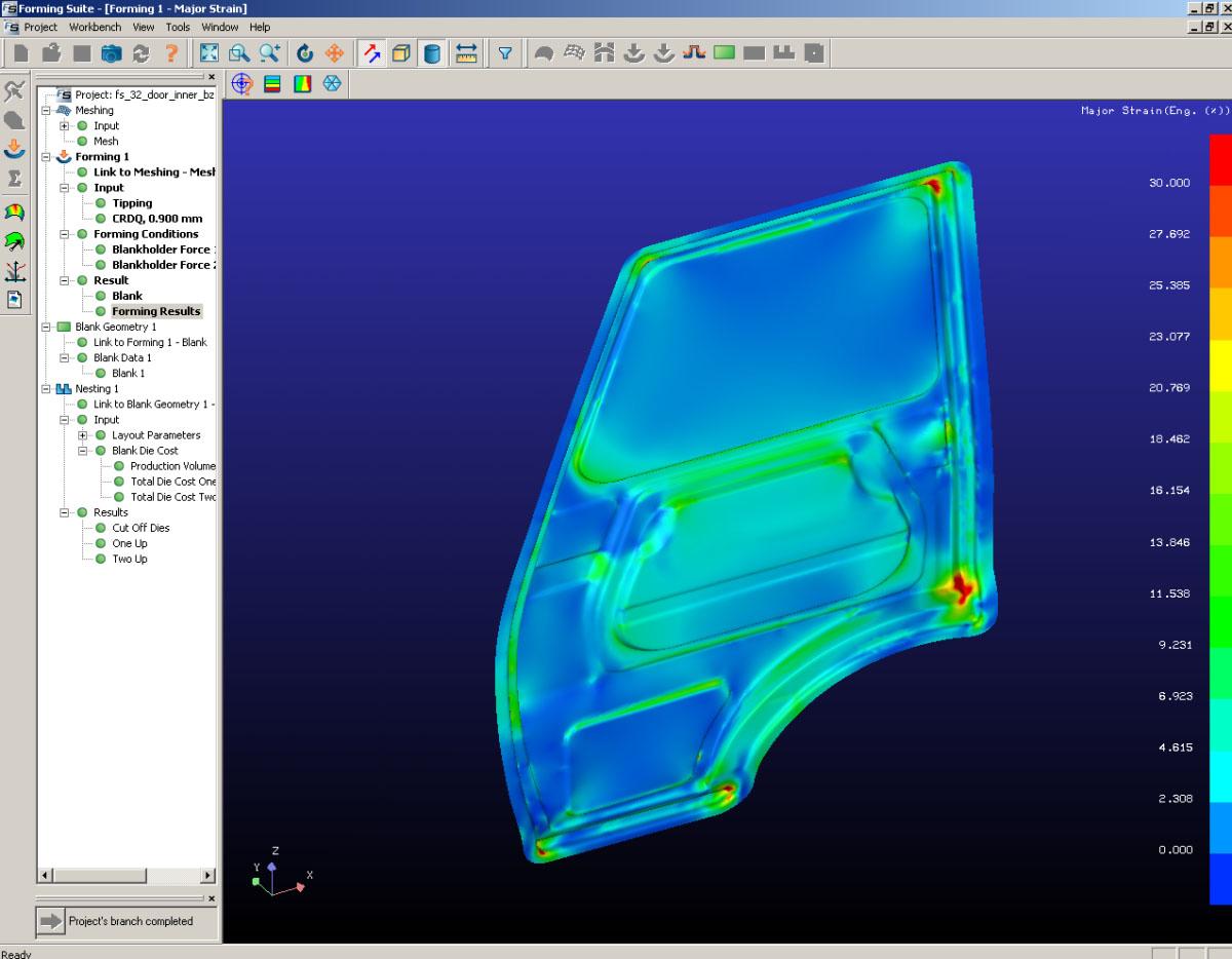 Dutton Simulation - FASTFORM sheet metal forming simulation